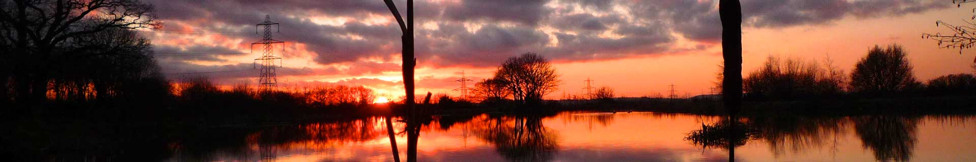 Furzebray Carp Lakes at Sunset